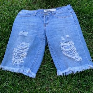 Ashley Mason Distressed Jean Shorts size 5